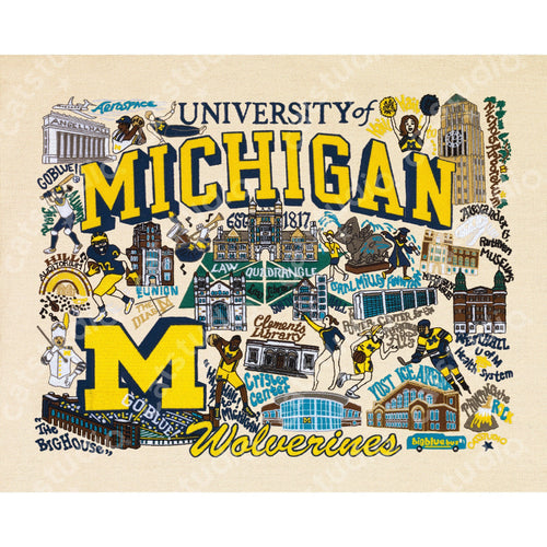 Michigan, University of Collegiate Fine Art Print - catstudio