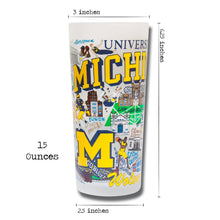 Load image into Gallery viewer, Michigan, University of Collegiate Drinking Glass - catstudio