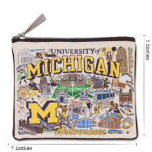 Load image into Gallery viewer, Michigan, University of Collegiate Zip Pouch - catstudio