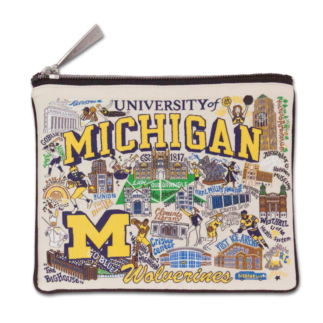 Michigan, University of Collegiate Zip Pouch - catstudio