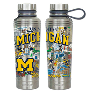 Michigan, University of Collegiate Thermal Bottle - catstudio