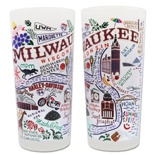 Load image into Gallery viewer, Milwaukee Drinking Glass - catstudio