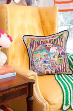 Load image into Gallery viewer, Minneapolis-St. Paul Hand-Embroidered Pillow Pillow catstudio