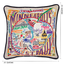 Load image into Gallery viewer, Minneapolis-St. Paul Hand-Embroidered Pillow - catstudio