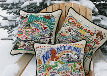 Load image into Gallery viewer, Minnesota Hand-Embroidered Pillow Pillow catstudio