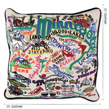 Load image into Gallery viewer, Minnesota Hand-Embroidered Pillow - catstudio