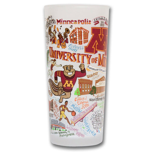 Minnesota, University of Collegiate Drinking Glass - catstudio
