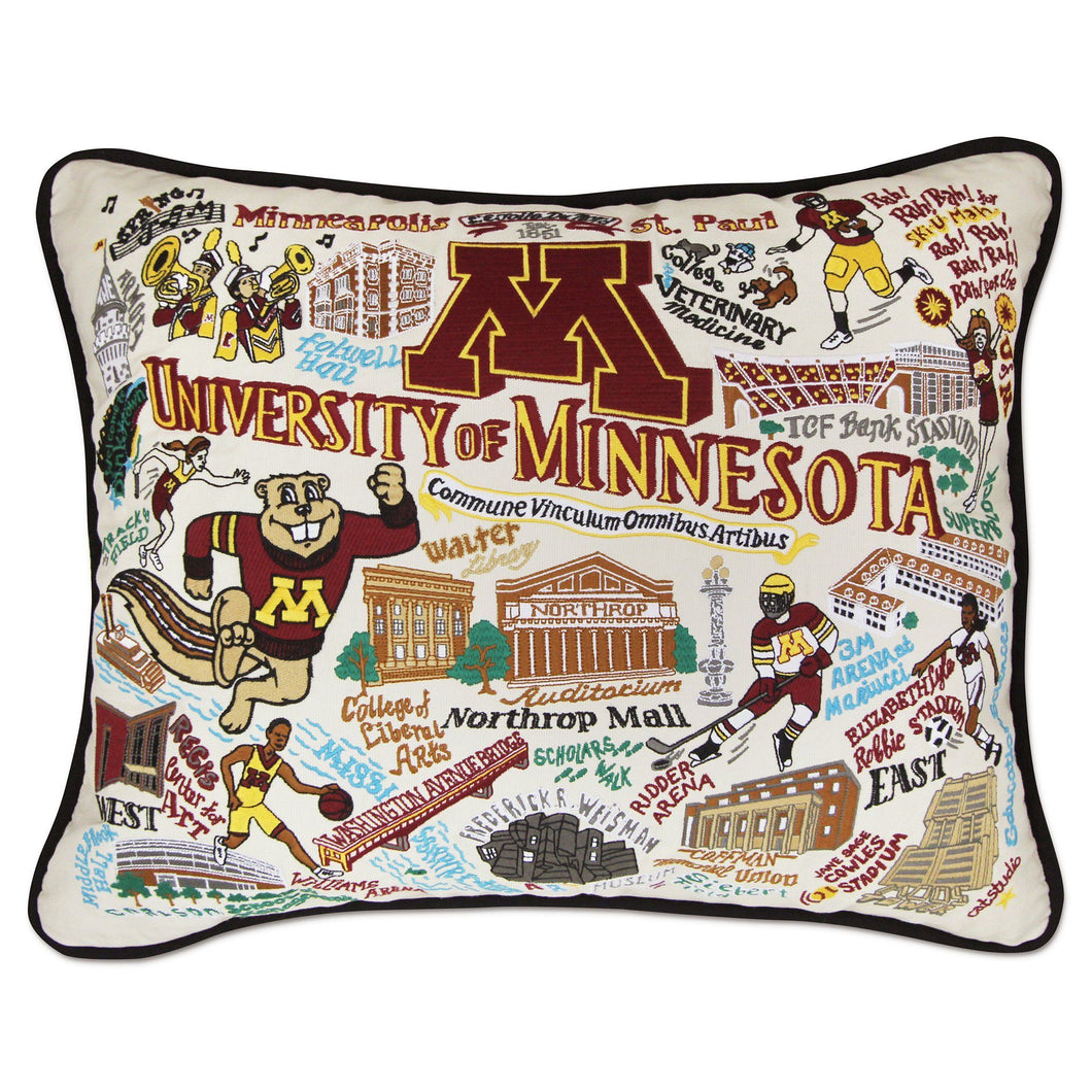 Minnesota, University of Collegiate Embroidered Pillow - catstudio