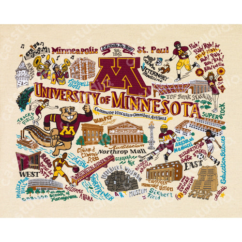 Minnesota, University of Collegiate Fine Art Print - catstudio