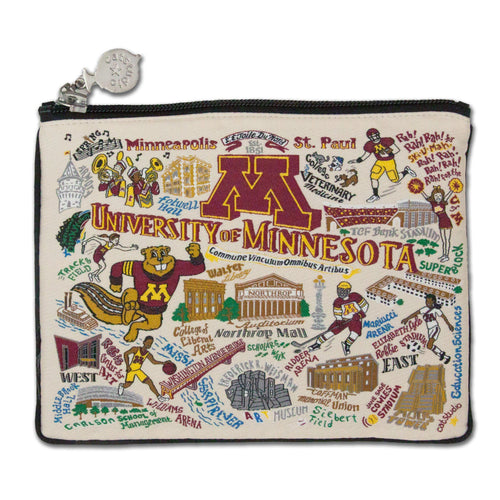 Minnesota, University of Collegiate Zip Pouch - catstudio