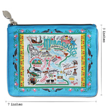 Load image into Gallery viewer, Minnesota Zip Pouch - Pattern Pouch catstudio