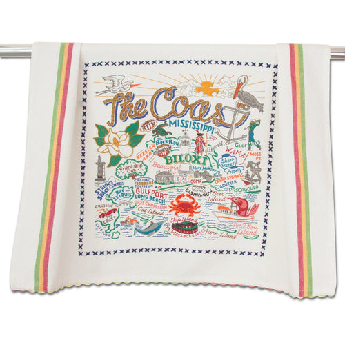 Mississippi Coast Dish Towel - catstudio