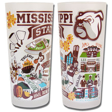 Load image into Gallery viewer, Mississippi State University Collegiate Drinking Glass - catstudio