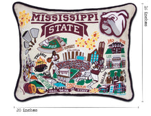 Load image into Gallery viewer, Mississippi State University Collegiate Embroidered Pillow Pillow catstudio
