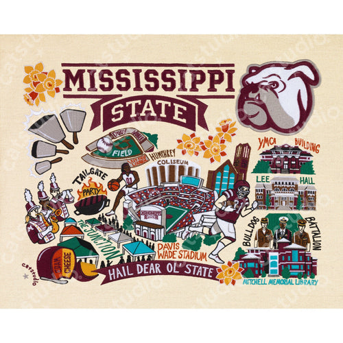 Mississippi State University Collegiate Fine Art Print - catstudio