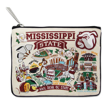 Load image into Gallery viewer, Mississippi State University Collegiate Zip Pouch Pouch catstudio