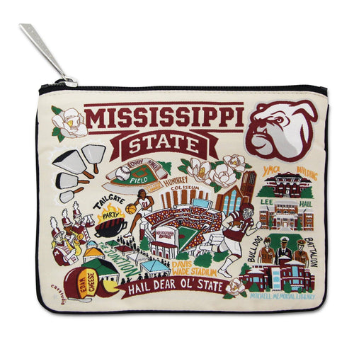 Mississippi State University Collegiate Zip Pouch - catstudio