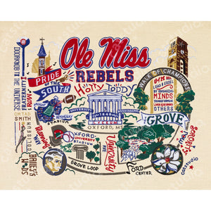 Mississippi, University of (Ole Miss) Collegiate Fine Art Print - catstudio