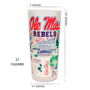 Mississippi, University of (Ole Miss) Collegiate Drinking Glass - catstudio
