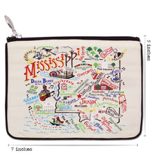 Load image into Gallery viewer, Mississippi Zip Pouch - Natural - catstudio