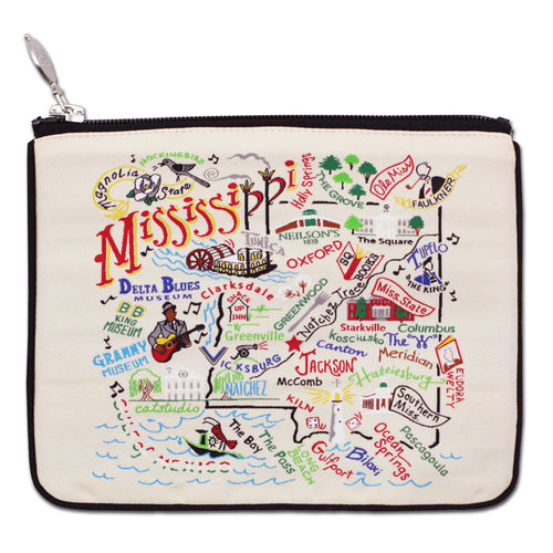 Mississippi Zip Pouch - Natural Pouch catstudio
