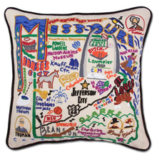 Load image into Gallery viewer, Missouri Hand-Embroidered Pillow - catstudio