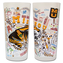 Load image into Gallery viewer, Missouri, University of (Mizzou) Collegiate Drinking Glass Glass catstudio