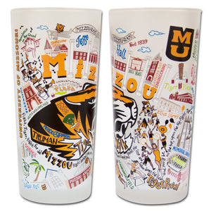 Missouri, University of (Mizzou) Collegiate Drinking Glass - catstudio