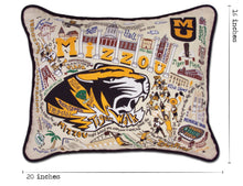 Load image into Gallery viewer, Missouri, University of (Mizzou) Collegiate Embroidered Pillow - catstudio