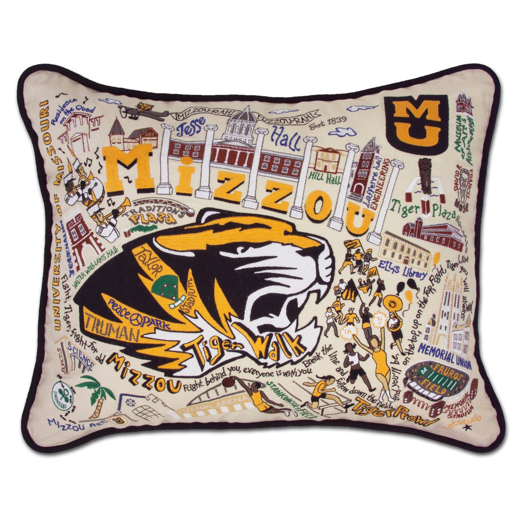 Missouri, University of (Mizzou) Collegiate Embroidered Pillow Pillow catstudio