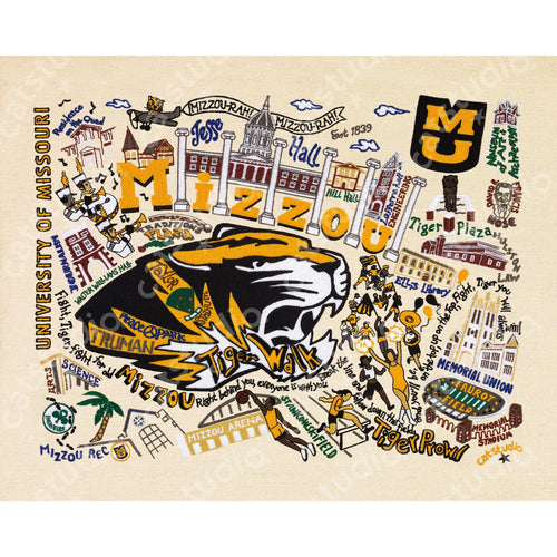 Missouri, University of (Mizzou) Collegiate Fine Art Print - catstudio