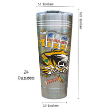 Load image into Gallery viewer, Missouri, University of (Mizzou) Collegiate Thermal Tumbler (Set of 4) - PREORDER Thermal Tumbler catstudio