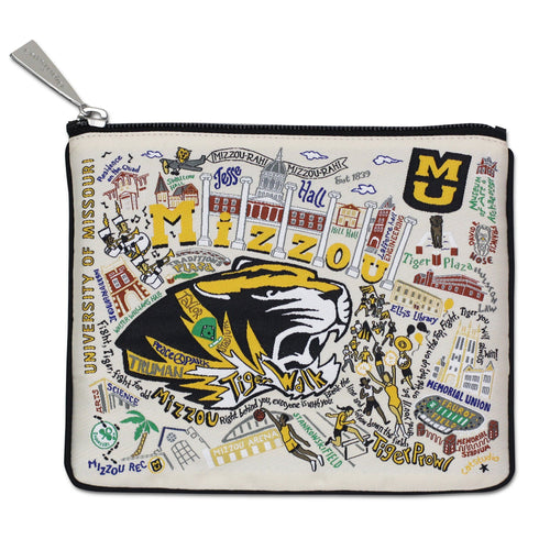 Missouri, University of (Mizzou) Collegiate Zip Pouch - catstudio