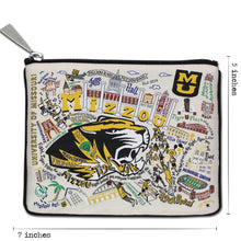 Load image into Gallery viewer, Missouri, University of (Mizzou) Collegiate Zip Pouch Pouch catstudio