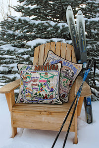 Montana Hand-Embroidered Pillow Pillow catstudio