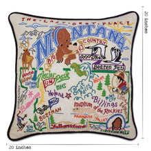 Load image into Gallery viewer, Montana Hand-Embroidered Pillow Pillow catstudio