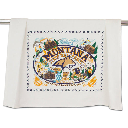 Montana State University Collegiate Dish Towel Dish Towel catstudio