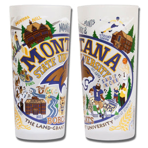Montana State University Collegiate Drinking Glass Glass catstudio