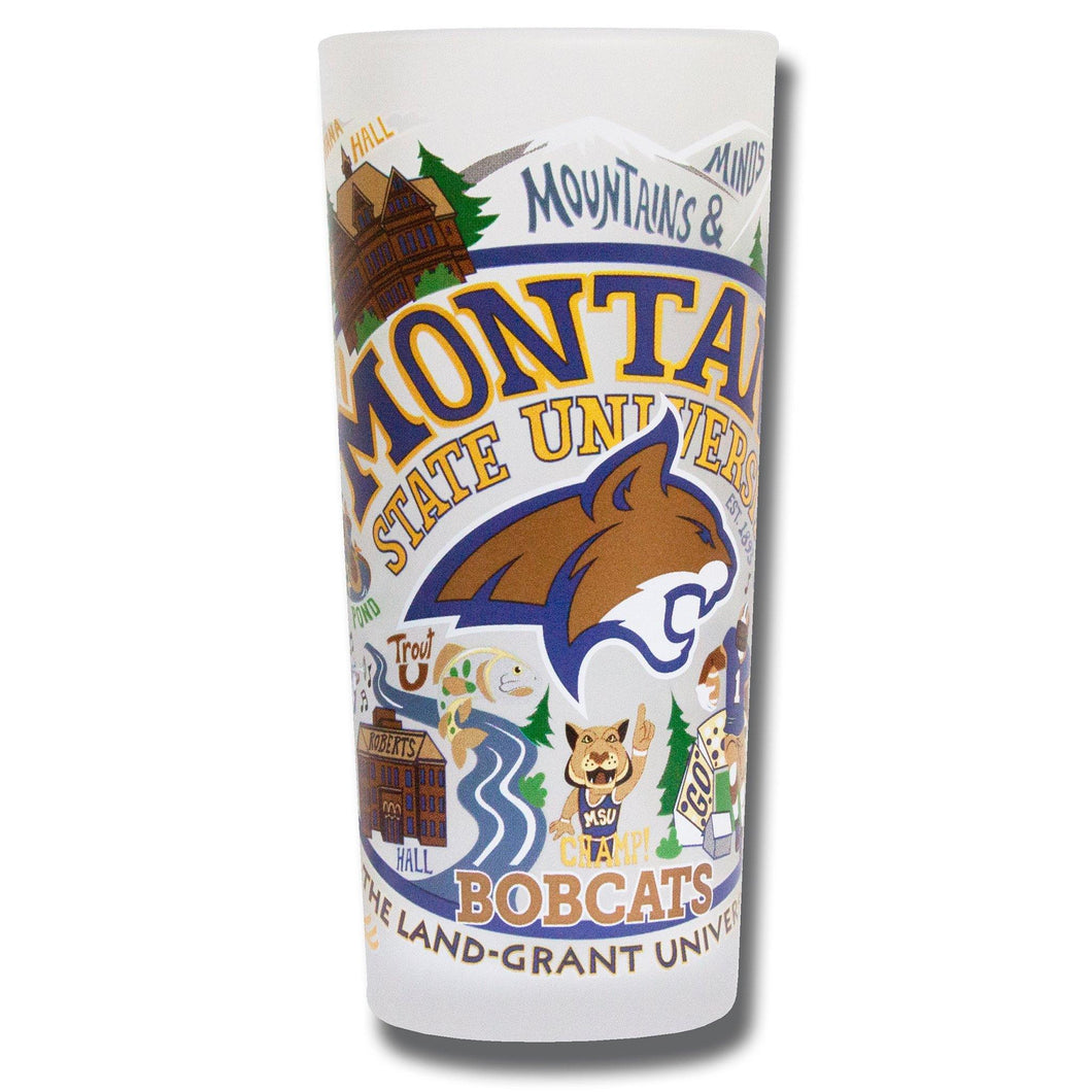 Montana State University Collegiate Drinking Glass - catstudio