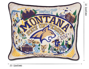 Montana State University Collegiate Embroidered Pillow Pillow catstudio