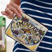 Load image into Gallery viewer, Montana State University Collegiate Zip Pouch - catstudio