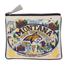 Load image into Gallery viewer, Montana State University Collegiate Zip Pouch Pouch catstudio