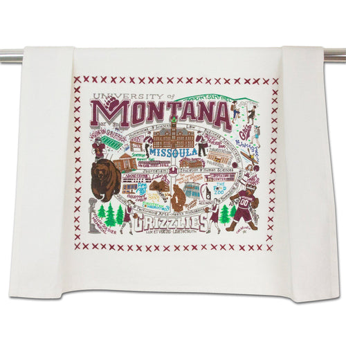 Montana, University of Collegiate Dish Towel Dish Towel catstudio