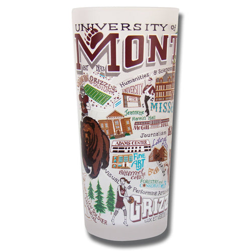 Montana, University of Collegiate Drinking Glass - catstudio