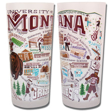 Load image into Gallery viewer, Montana, University of Collegiate Drinking Glass - catstudio