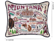 Load image into Gallery viewer, Montana, University of Collegiate Embroidered Pillow - catstudio