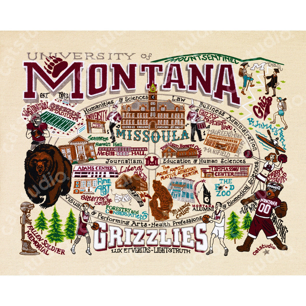 Montana, University of Collegiate Fine Art Print - catstudio