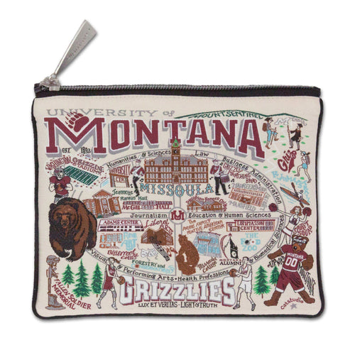 Montana, University of Collegiate Zip Pouch - catstudio