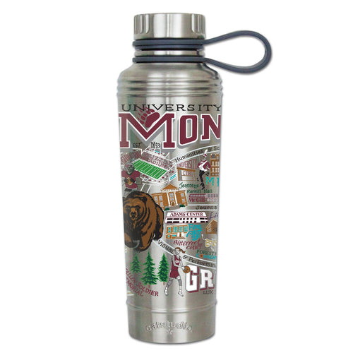 Montana, University of Collegiate Thermal Bottle - catstudio