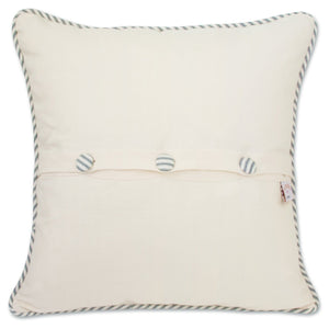 Nantucket Hand-Embroidered Pillow - catstudio